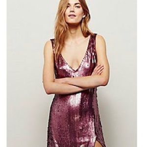 NWT Free People Sexy Sequins Slip
